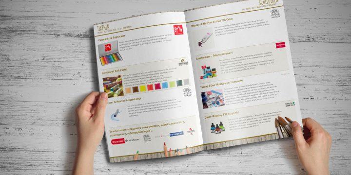 brochure-cataloog kunstenaarsbenodigdheden