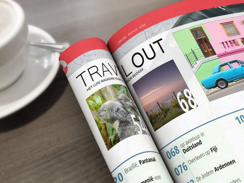 vormgeving layout reismagazine tijdschrift